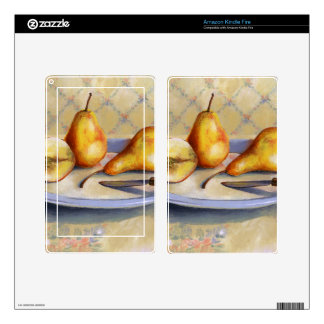 0012 Pears on Platter Kindle Fire Decals