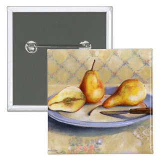 0012 Pears on Platter Pinback Button