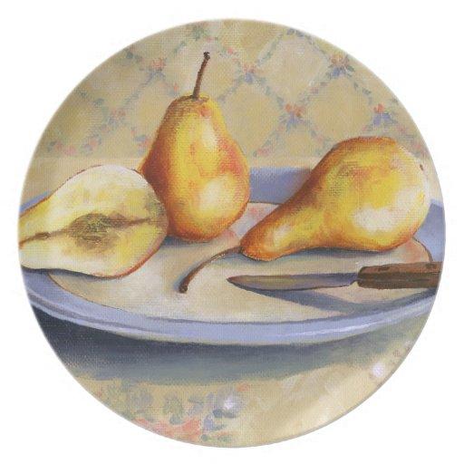 0012 peras en el disco platos