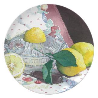 0014 When Life Gives You Lemons Dinner Plate