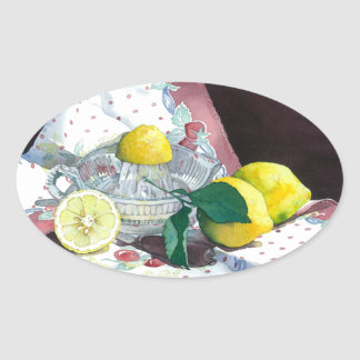 0014 When Life Gives You Lemons Oval Sticker