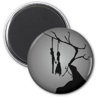 00171 Hanged Lovers 2 Inch Round Magnet
