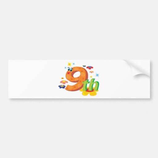 0017 9th COLORFUL CARTOON NUMBER PARTY SPECIAL OCC Bumper Sticker
