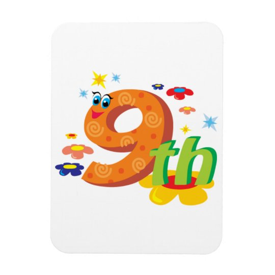 0017 9th COLORFUL CARTOON NUMBER PARTY SPECIAL OCC Magnet