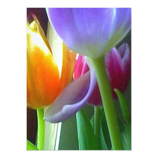 001 (5) invitation card with tulips design