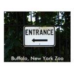 001, búfalo, parque zoológico de Nueva York Postal