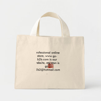 001, Hi ,buddy .im  a professional online store... Mini Tote Bag