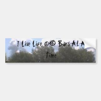 001, I Live Life 16 Bars At A Time Car Bumper Sticker