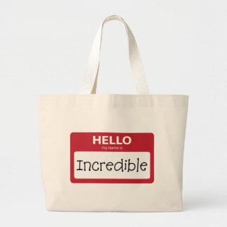 001 increíbles bolsas lienzo