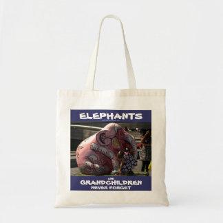 002023 elefantes y nietos: Bolso del adaptador de Bolsas