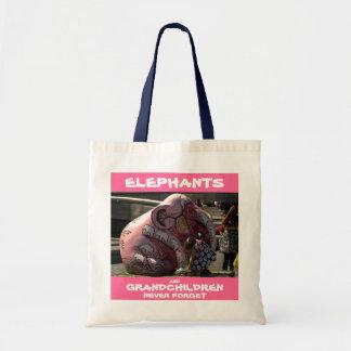 002023 Elephants and Grandchildren: Budget Tote Bags
