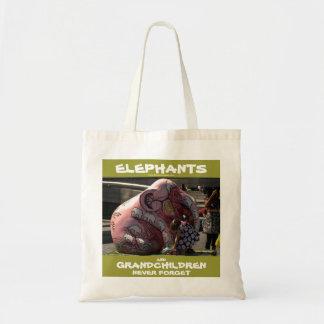 002023 Elephants & Grandchildren: CTC Bag (Green) Budget Tote Bag