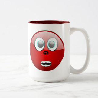 0021_Vector_Clipart funny faces red laughs express Two-Tone Coffee Mug