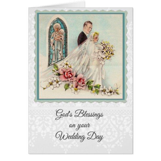 0025 Catholic Wedding Card W Scripture Verse