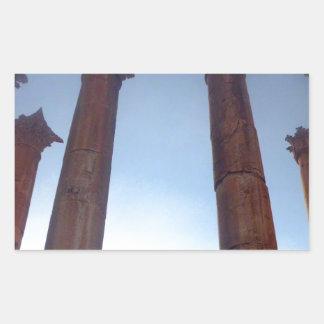 002 Jerash Roman Columns 2 Rectangular Sticker