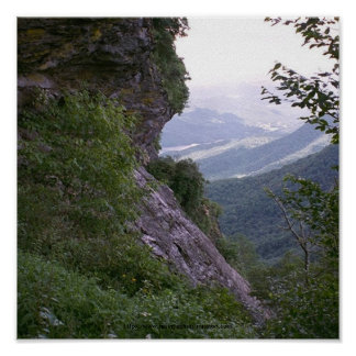 002 montañas de Poster Blue Ridge N C