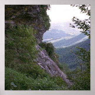 002 montañas de Poster~Blue Ridge, N.C. Póster