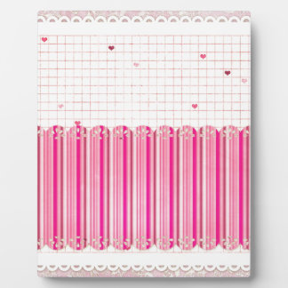 002 STRIPES GIRLY PINKS CREAM PATTERN SCRAPBOOKING PLAQUES