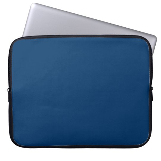 003366 Solid Dark Blue Background Laptop Sleeve