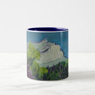 0035-la Ste Victoire in summer Two-Tone Coffee Mug