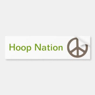 0037 peace sign, Hoop Nation Car Bumper Sticker