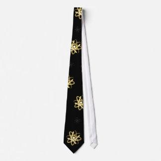 (003: 13y) Átomo que brilla intensamente amarillo Corbatas Personalizadas