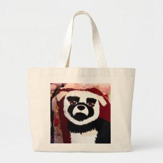 003: Bolso de perrito delicioso: Tote de las compr Bolsas Lienzo