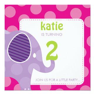 003-Katie :: BIRTHDAY PARTY INVITES - elephant  SQ