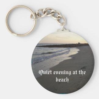 003, Quiet evening at the beach Keychain