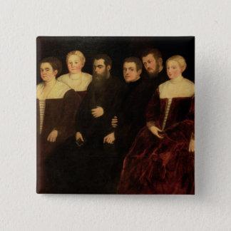 00409 Seven members of the Soranzo Family Button