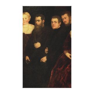00409 Seven members of the Soranzo Family Canvas Print