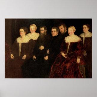 00409 Seven members of the Soranzo Family Poster