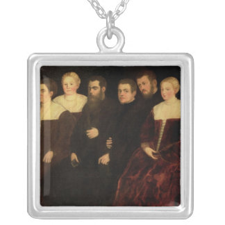 00409 Seven members of the Soranzo Family Silver Plated Necklace