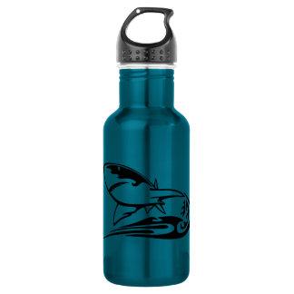0041b_flamboyant_animals GREAT WHITE SHARK SEALIFE Stainless Steel Water Bottle