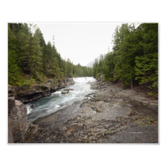 0042 8/12 McDonald falls in Glacier Photo Print