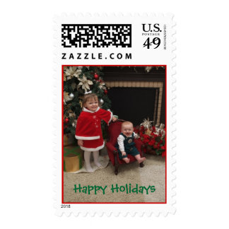0047, Happy Holidays - Customized Postage Stamp