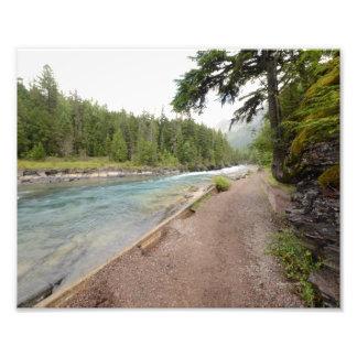 0048 8/12 McDonald Falls Glacier National Park Photo