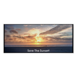 004_1acopy1, Save The Sunset! Poster
