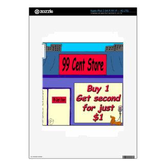 004 dibujo animado de la tienda de 99 centavos iPad 3 pegatinas skins