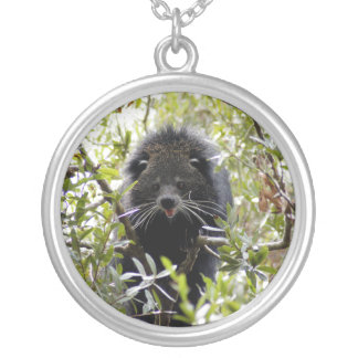 004Bearcat Silver Plated Necklace
