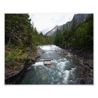 0054 8/12 McDonald falls in Glacier. Photo Art