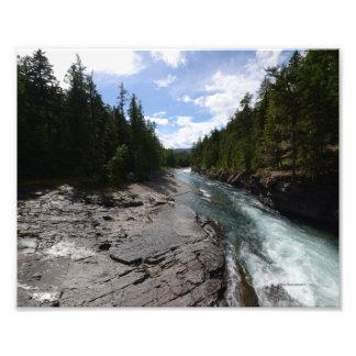 0056 8/12 McDonald Falls in Glacier Photo
