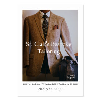0065720-R3-007-2, St. Clair's Bespoke Tailoring... Large Business Cards (Pack Of 100)