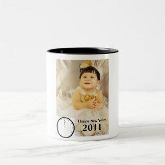 006 (3), rclock-12-00_35034_lg, 2011, Happy New... Two-Tone Coffee Mug