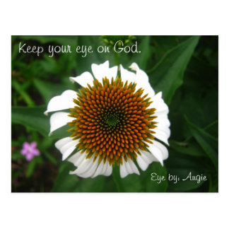 007, Keep your eye on God., Eye by: Angie Postcard