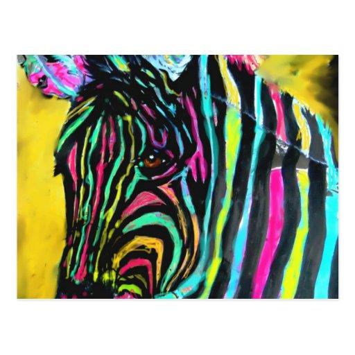 008 colores de la cebra postales