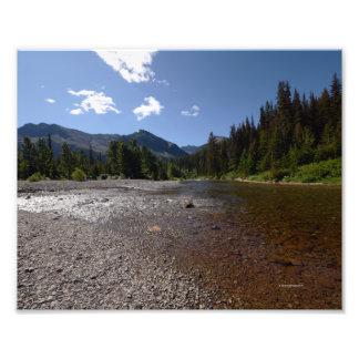 0091 8/12 Sky Lake River in Glacier. Photo Print
