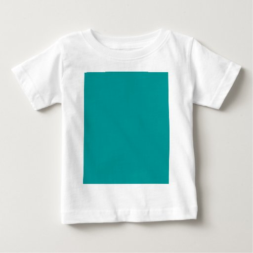 009999 Solid Color Turquoise Background Template Shirt
