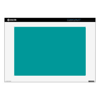 "009999 Turquoise Solid Color Background Template 15"" Laptop Decal"