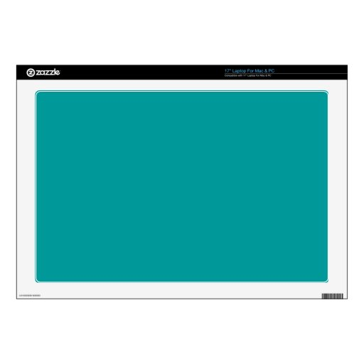 009999 Turquoise Solid Color Background Template Skins For Laptops